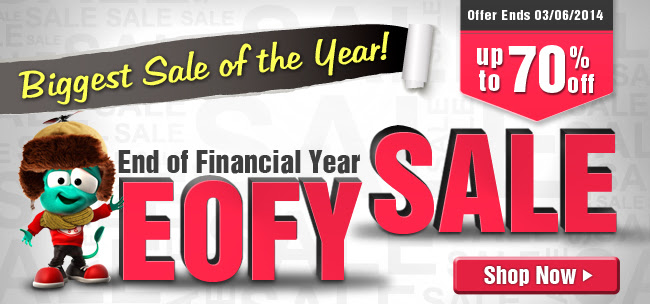 EOFYS - Biggest Sale of the Year Up to 70% OFF at Crazysales.com.au