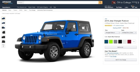 With Amazon Vehicles, customers can now view specifications, images, videos, and customer reviews fo ...