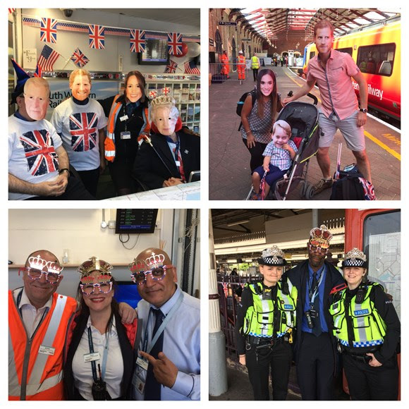 Ding dong the bells did chime. 45,000 passenger journeys between London Waterloo and Windsor and Eton Riverside for the royal wedding
