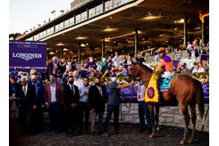 Authentic's connections celebrate a victory in the Nov. 7 Breeders' Cup Classic at Keeneland