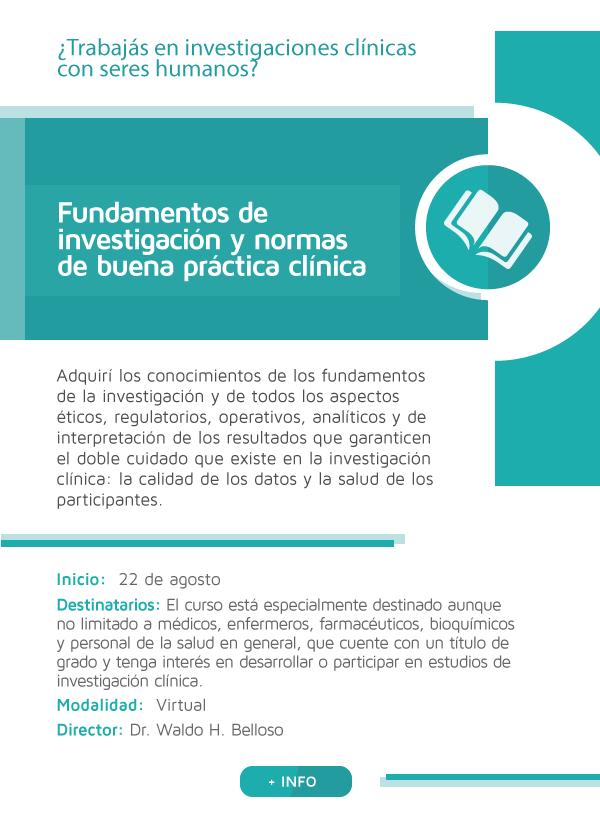 Fundamentos de investigación y normas de buena práctica clínica