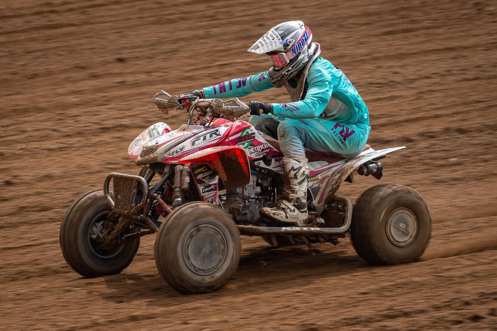 Westley Wolfe was on the gas as he came through to earn a fourth overall on the weekend.
