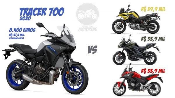 Yamaha Tracer 700 2020 Comparativo Preço