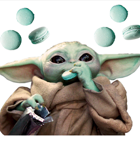 The Mandalorian The Child & Cookie Passenger Series Window Decal