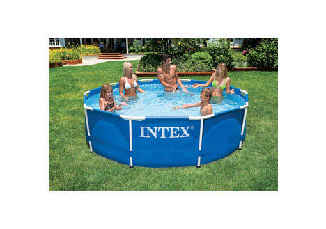 Intex 10-Foot x 30-Inch Metal Frame Swimming Pool from DealDash