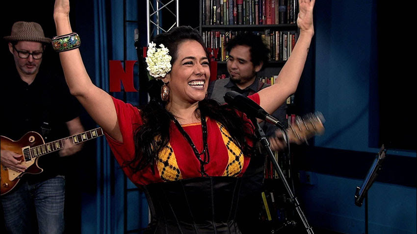 In 2017, Lila Downs, one of Mexico's most acclaimed singer-songwriters, stopped by the Democracy Now! studio.