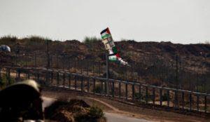 """Palestinian"" rioters at Gaza/Israel border throw rocks and firebombs at IDF troops, raise Nazi flag"