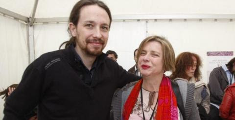 Pablo Iglesias y Ana Taboada, candidata de Somos Oviedo. / SOMOSASTURIES.INFO