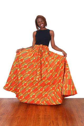 Kente African Print Maxi Skirt