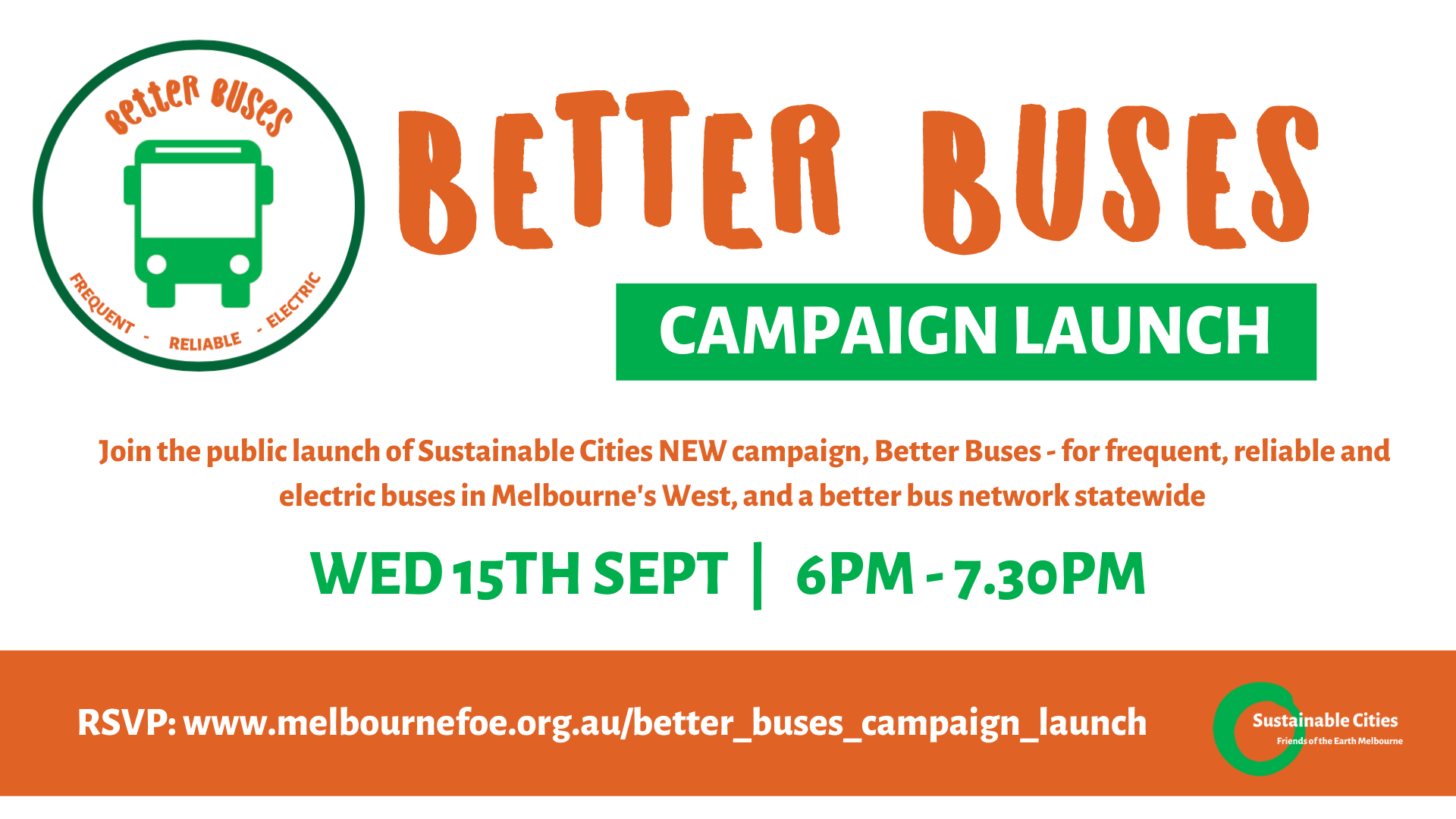 FoE Melb Better Buses campaign launch
