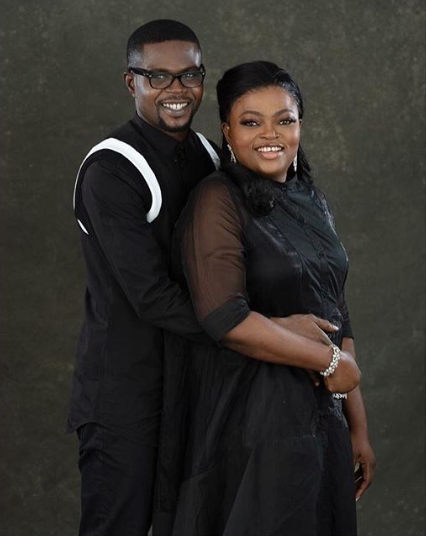 Funke Akindele professes love for her hubby JJC Skillz as she shares beautiful new photos of them