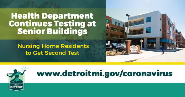 COVID Health Department Testing at Senior Buildings