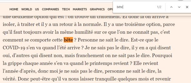 """Macron et""""l'arrivée de la Bête """" (sa petite phrase du 22 mai 2020)  D042481_3ZXkysNCw9MAiKSI2R9DId5N"""