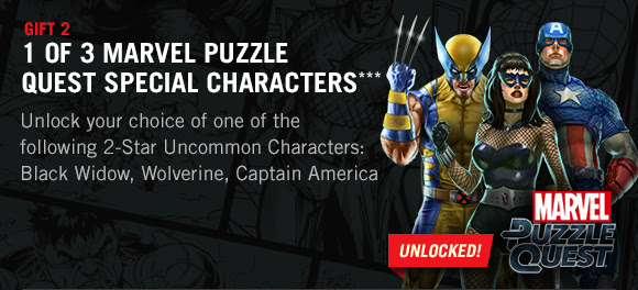 1 of 3 2-Star Characters In Marvel Puzzle Quest!