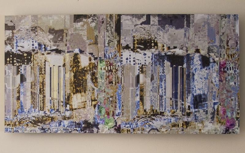 Untitled Landscape  1  Alexandra Momin  Pigment ink on aluminum dibond  25 x12.7    1800