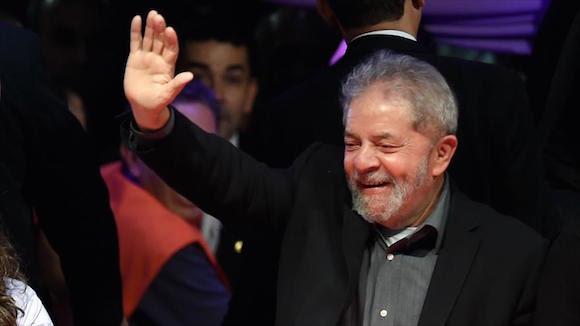 Expresidente brasileño Luiz Inácio Lula da Silva durante la ceremonia de inauguración de la quinta Marcha de Margaritas en Brasilia, 11 de agosto de 2015. Foto: AP