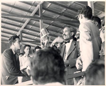 Albizu at Sixto Escobar Stadium