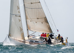 J/120 sailing Newport to Ensenada race