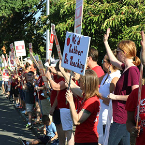 WA educators on strike for higher pay