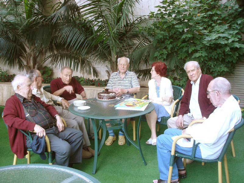 Residents in the Elisha Towers home in Haifa