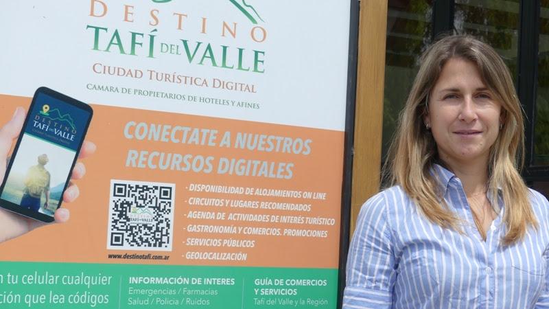 Lorena Escobar, presidenta de la asociación empresaria tafinista
