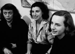joan mitchell, helen frankenthaler, and grace hartigan in 1957_Joan Mitchell, Helen Frankenthaler, and Grace Hartigan in 1957.Photograph by Burt Glinn - Magnum.jpg