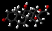 Représentation moléculaire du Cortisol