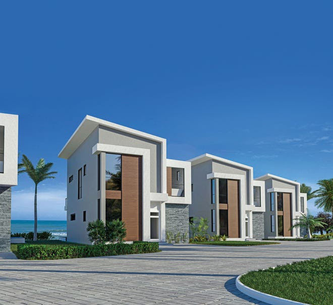 This artist's rendering depicts the oceanfront homes in the Harbor Island Beach Club complex south of Melbourne Beach.
