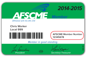 Sample AFSCME Member Card