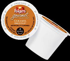 Folgers Caramel Drizzle Keurig Kcup coffee