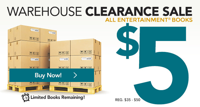 Warehouse Clearance Sale - All 2017 Entertainment(R) Books $5 + Free Shipping