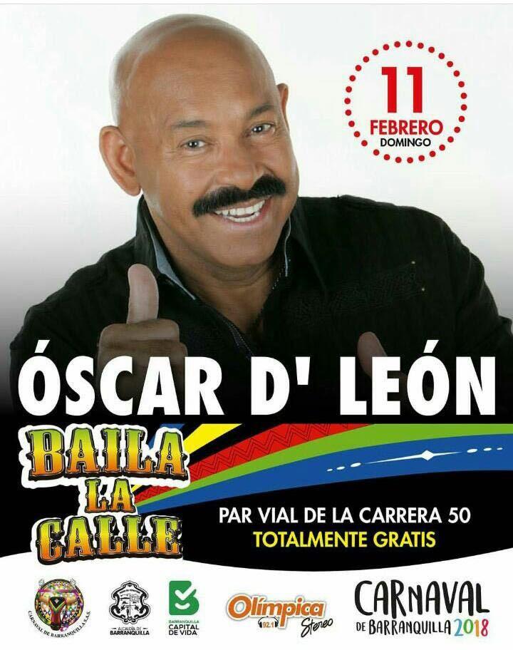 Oscar D Leon Carnaval de Barranquilla cra 50