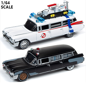 Ghostbusters Silver Screen Machines 1/64 Scale Ecto-1 1959 Cadillac