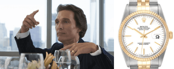matthew mcconaughey's Steel Yellow Gold White Dial