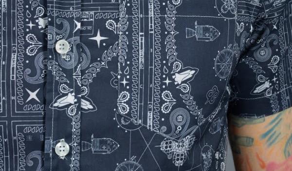 Space Bandana Button-Up