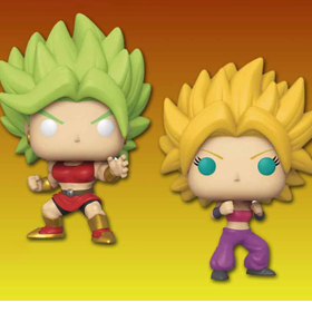 Pop! Animation: Dragon Ball Super - Super Saiyan Kale & Caulifla 2-Pack Exclusive