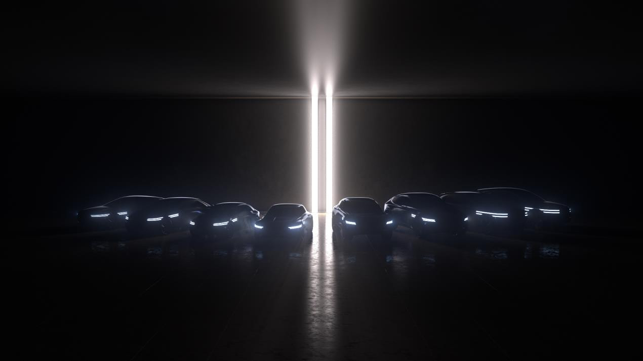 [PHOTO 2]  Teaser for EV lineup consisting of eight models