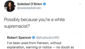 "Soledad O'Brien calls Robert Spencer ""white supremacist,"" discovers he isn't, quietly deletes tweet without apology"