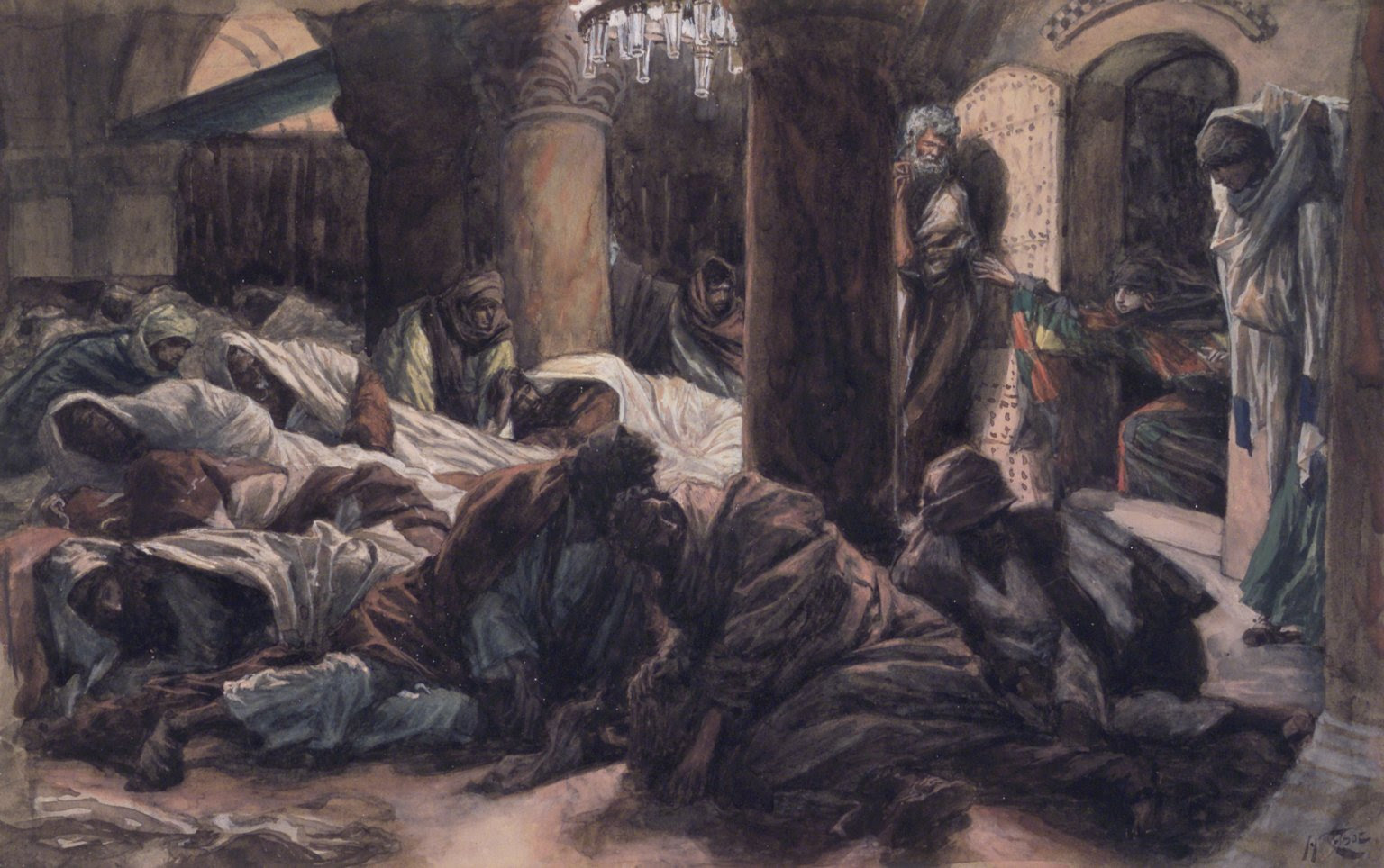 Mary Magdalene bursts into the room where Jesus' disciples are sleeping