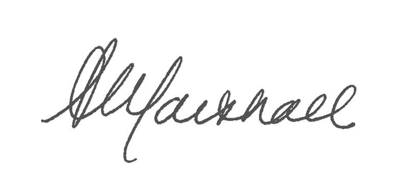 Shawn Marshall signature