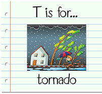 T is for Tornado flashcard