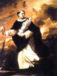 Święty Jacek z monstrancją i figurą Matki Bożej