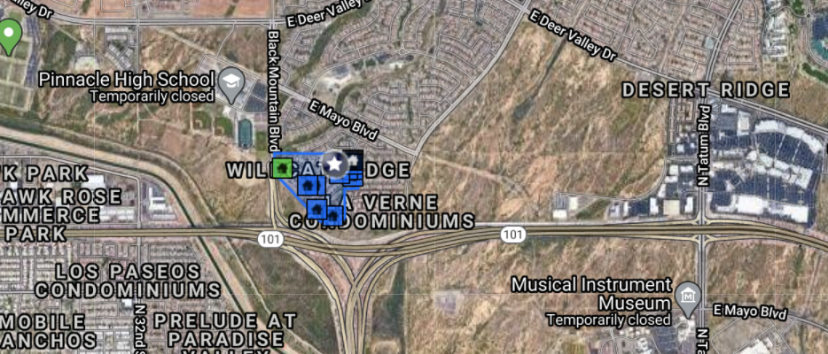 20918 N 38th Pl Phoenix, AZ 85050 comps map