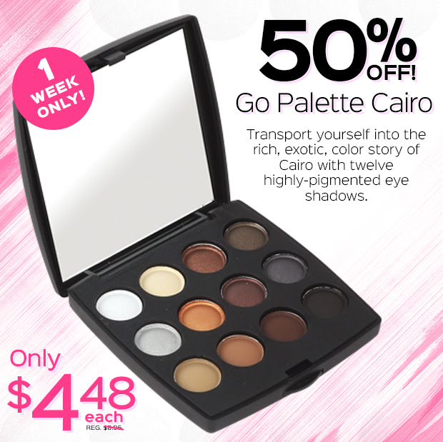1 WEEK ONLY! 50% OFF Go Palette Cairo! Only $4.48 each, Reg. $8.95