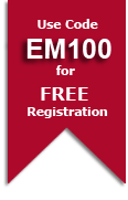 Use Code EM100 for FREE Registration