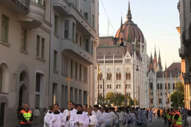Procession in Budapest