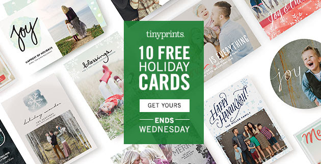 Tiny Prints 10 Free Holiday Cards