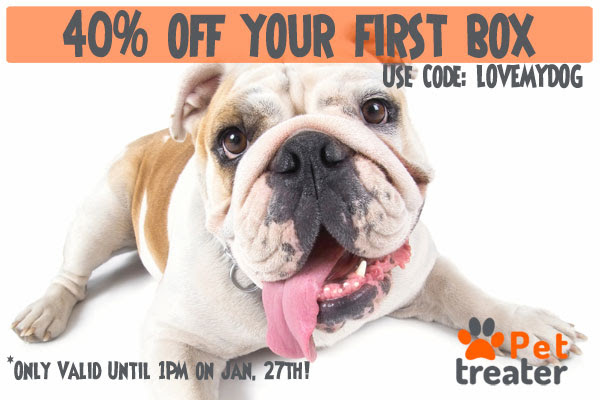 40% off a Pet Treater Box!