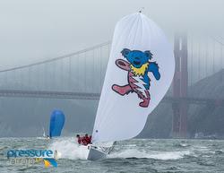 J/70s sailing San Francisco Bay fast!