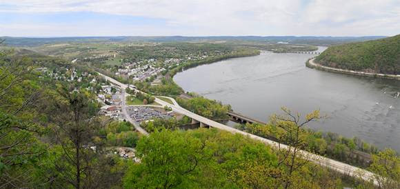 Picture of Duncannon from the End of Cove Mountain